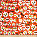 Bonehead Skulls Dark Orange