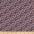 Liberty Fabrics Tana Lawn Alba Red/Blue