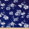 Crinkle Challis Wildflower Navy/White