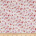 Telio Hampton Court Cotton Poplin Floral Fuchsia
