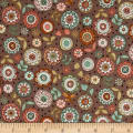 Andover/Makower Doodle Days Large Flower Hessian