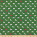 Riley Blake Derby Day Horses In Jersey Knit Green