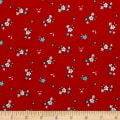 Riley Blake A Little Sweetness Little Floral Flannel Red