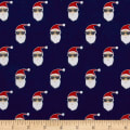 Riley Blake Jingle Jangle Santa Flannel Navy