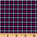 Small Plaid Yarn-Dyed Lawn Pink/Navy/White