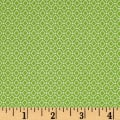 Stof Avalana Jersey Knit Diamond & Dot Geo Light Green