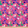 Supreme Fancy African Print 6 Yards Pink/Blue/Green/White