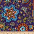 Timeless Treasures Fortuna Metallic Medallions & Paisleys Sapphire