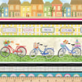 Enjoy The Journey Bicycle Novelty Stripe Multi