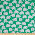 Wild About You Elephants Green