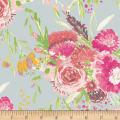 Art Gallery Wild Bloom Summer Bouquet Grey