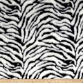Michael Miller Zebra Faux Fur White