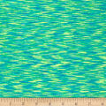 Pine Crest Fabrics Strata Athletic Knit Turquoise/Lime
