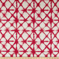 Premier Prints Shibori Net Flax Basketweave Raspberry