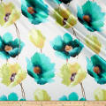 Anthium Floral Satin Turquoise/Chartreuse