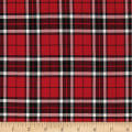 Kaufman Sevenberry: Classic Plaid Twill Plaid Red