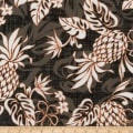 Kaufman Sevenberry Island Paradise Pineapples and Flowers Grey