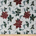 Christmas Craze Poinsettia Jacquard