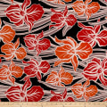 Maggy London ITY Knit Tropical Floral Red/Orange/Black