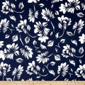 Maggy London ITY Knit Palm Leaf Navy/White