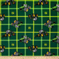 John Deere Square Plaid Tractors Green