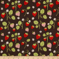 Monaluna Organic Poplin Cottage Garden Strawberry Fields