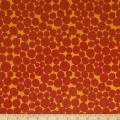Kaufman Psychedelia Damask, Circles, Dots Charcoal/Cayenne