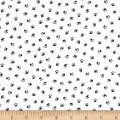Kaufman Whiskers & Tails Digital Print Ecru Dots, Paws, White