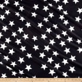 Pine Crest Fabrics You're a Star on Olympus Athletic Double Knit White/Black