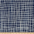 Kaufman Mark To Make Grid Indigo