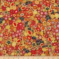 Kaufman Gustav Klimt Jewels Red Metallic