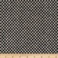 Florencia Zig-Zag Jacquard Coating Black/Cream