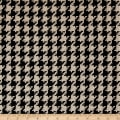 Open Houndstooth Basketweave Coating Black/Cream