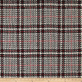 Birshka Plaid Basketweave Coating Red/Black/White