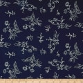 Bubble Crepe Floral Navy/Ivory