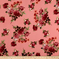 Liverpool DoubleKnit Romantic Floral Coral/Scarlet/Peach