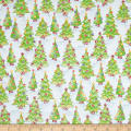 Gingerbread Christmas Decorated Tree Lot Soft Blue