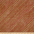 Gingerbread Christmas Diagonal Stripe Red/Green