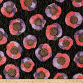 QT Fabrics Bellisima Large Floral Metallic Black