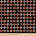 QT Fabrics Bellisima Diamond Geo Metallic Black