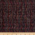 Bellisima Wavy Stripe Metallic Black/Dark Pink