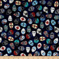 QT Fabrics Face Off Hockey Helmets & Masks Dark Navy