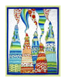 "QT Fabrics House On The Hill House On The Hill 35"" Panel Multi"