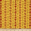 QT Fabrics House On The Hill Leaf Stripe Yellow