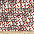 QT Fabrics House On The Hill Colored Grid Red