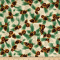 QT Fabrics North Woods Scotch Pine Toss Stone