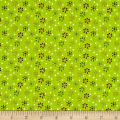QT Fabrics Patchwork Farms Small Flower Lime