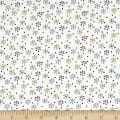 QT Fabrics Patchwork Farms Small Flower White