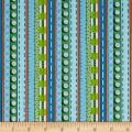 QT Fabrics Patchwork Farms Decorative Stripe Blue