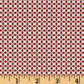QT Fabrics Patchwork Farms Geo Grid Red